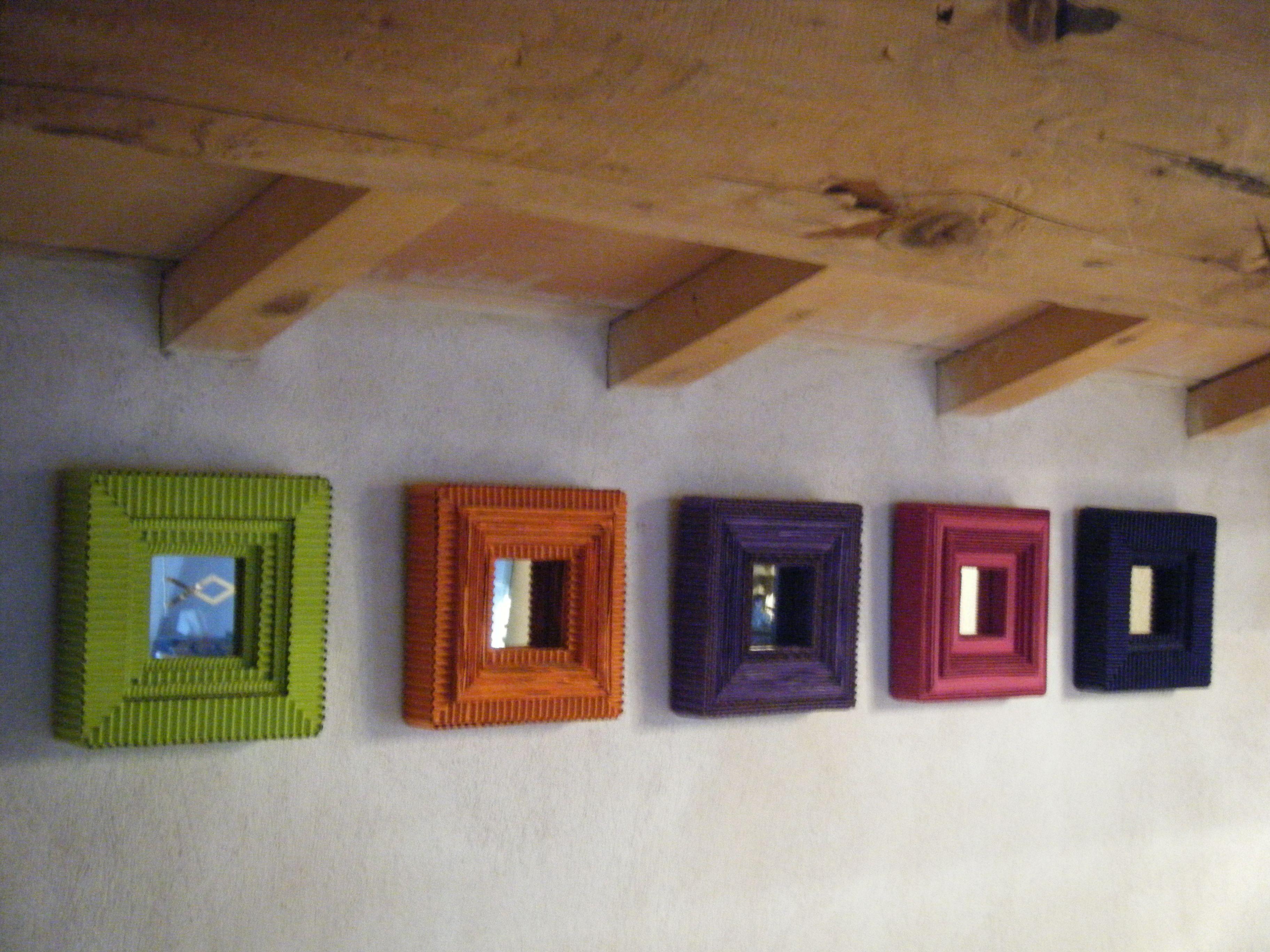 créations D.L  - miroirs à poser ou à accrocher pigments