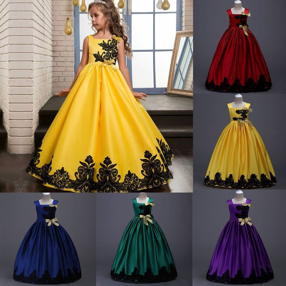 Flower Girls Princess Dress Kids Party Wedding Pageant Formal Tutu Gown Dresses
