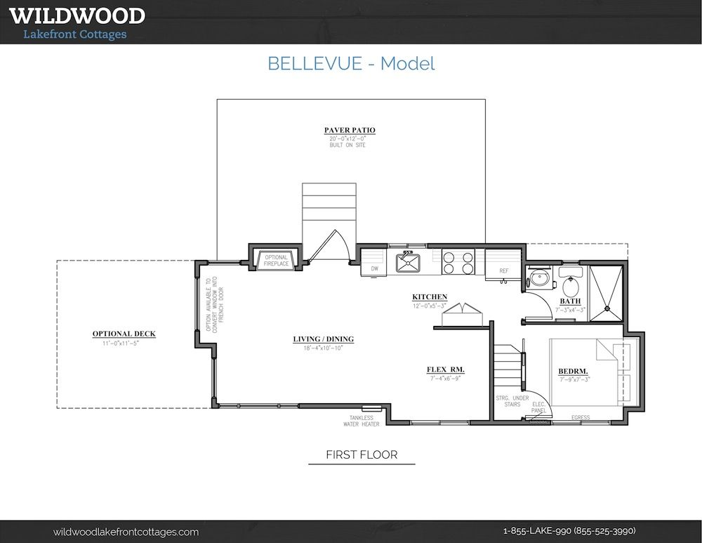Bellevue Wildwood Lake Front Cottages Tiny House Plans Cottage Floor Plans Tiny House Trailer