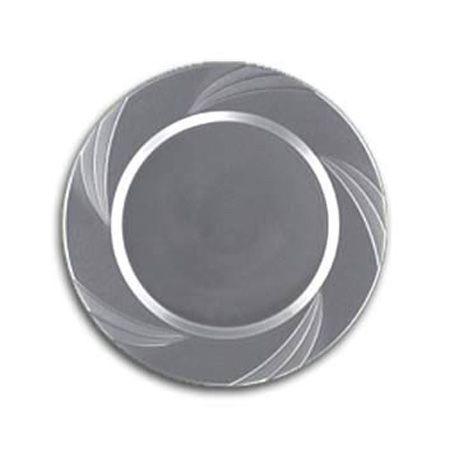 6 5 Newbury Silver Plastic Dessert Plates