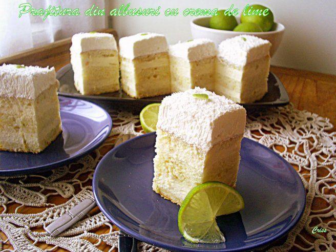 Prajitura din albusuri si crema de lime - Galerie foto