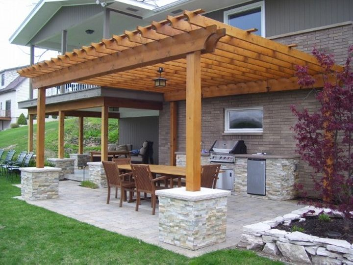 Bbq Party Is On The Way Design Your Pergola Accordingly Pergola Patio Backyard Pergola Backyard Patio