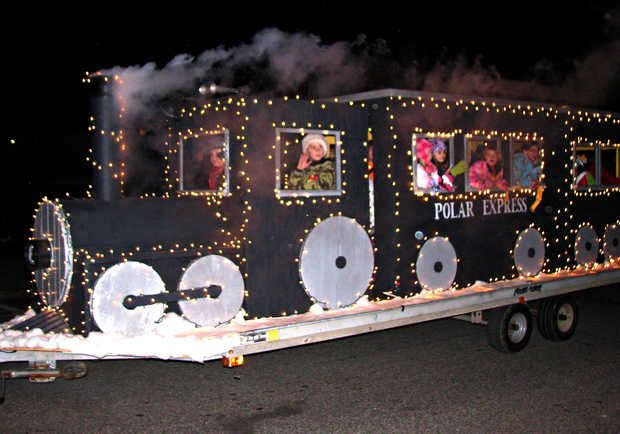 christmas parade float themes rumford parade displays local talent on floats sun journal