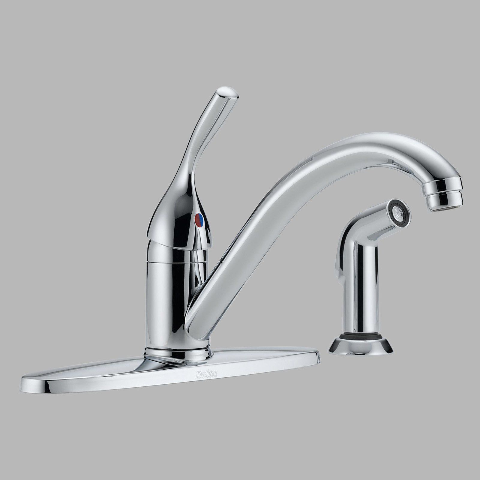Delta Classic 400 Dst Single Handle Kitchen Faucet With Side Spray