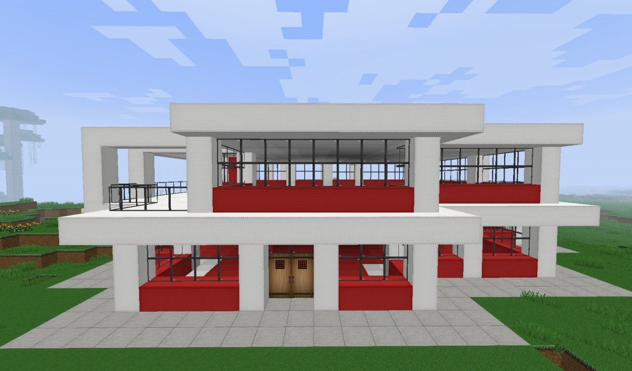 Cool minecraft modern house designs minecraft for Simple to build house plans