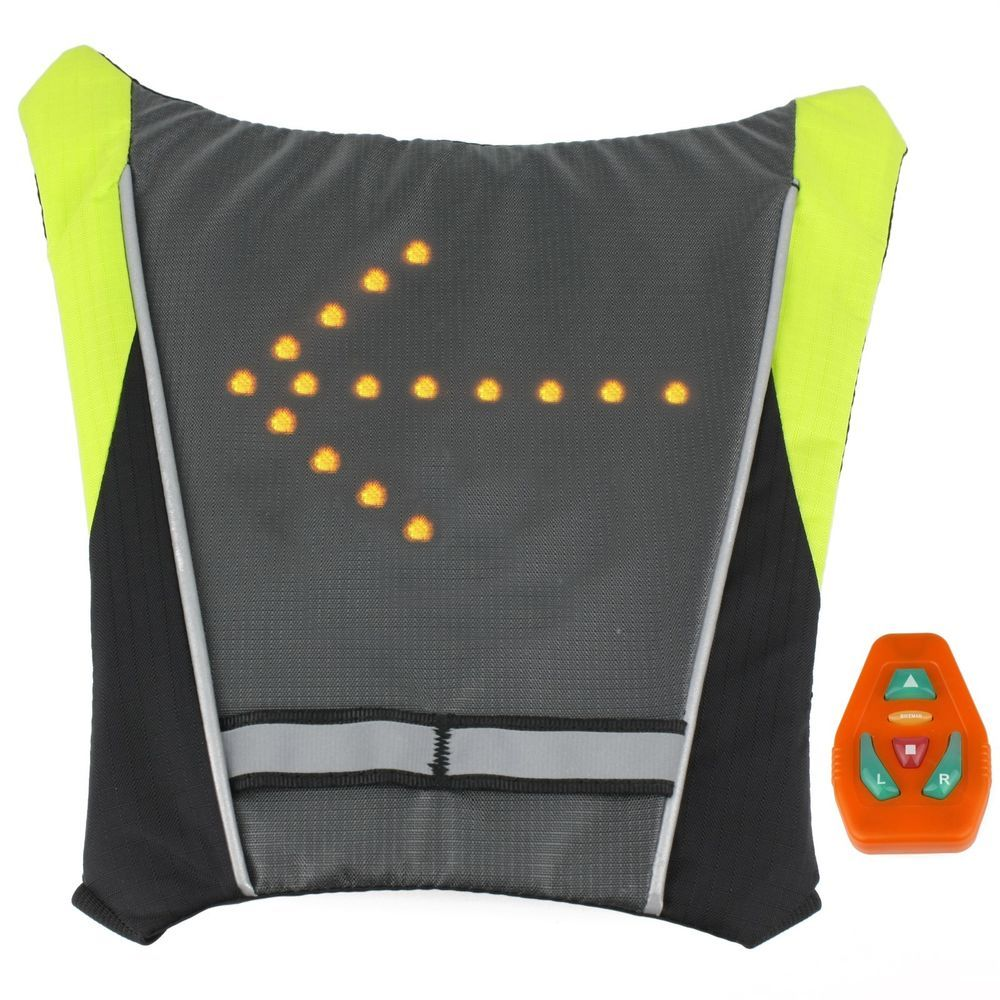 Back To Search Resultssports & Entertainment Beautiful Outdoor Hiking Camping Bicycle Signal Light Indicator Reflective Vest Bike Backpack Led Safety Turnning Signal Light Backpack Bright And Translucent In Appearance Cycling