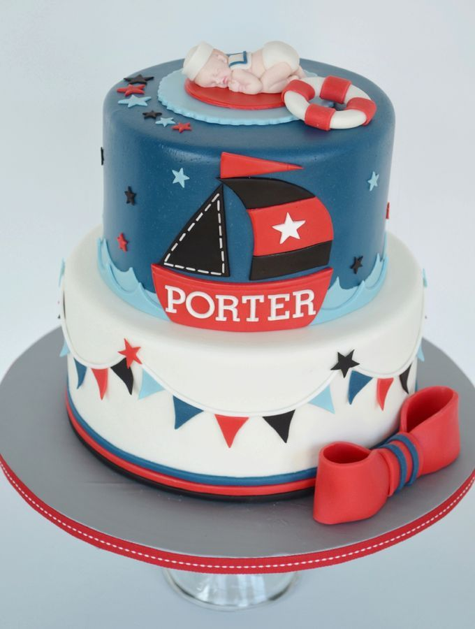 Nautical Themed Cake For A Baby Shower Design By Cakes With
