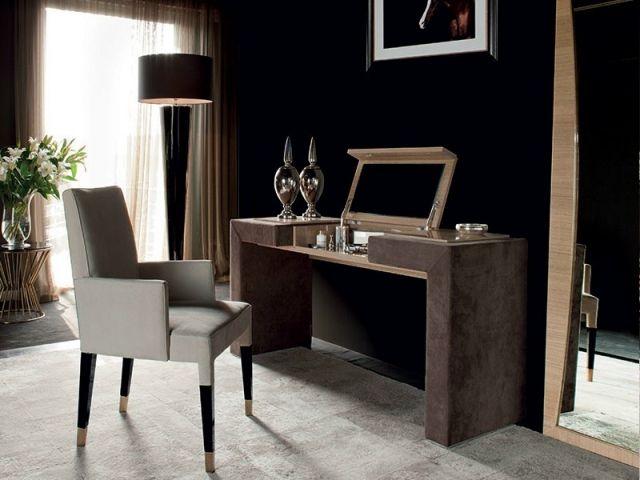 Design Schminktisch holz schminktisch ideen design aufklappbarer spiegel gepolstert