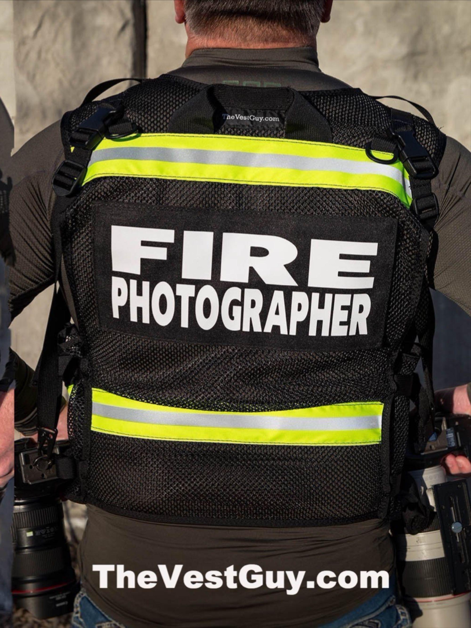 Metro Fire Photographer Vest Reflective Photographer