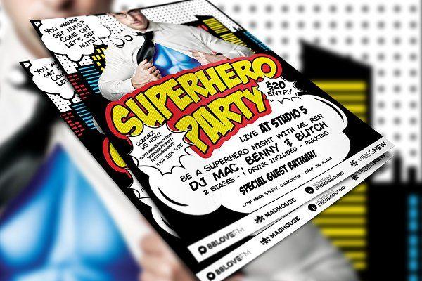 superhero party flyer template pinterest party flyer superhero