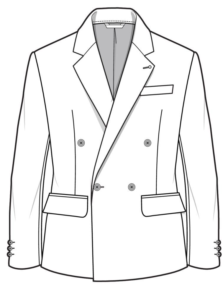 Blazer CAD/FLAT ready for detail and design for the AW16 ...