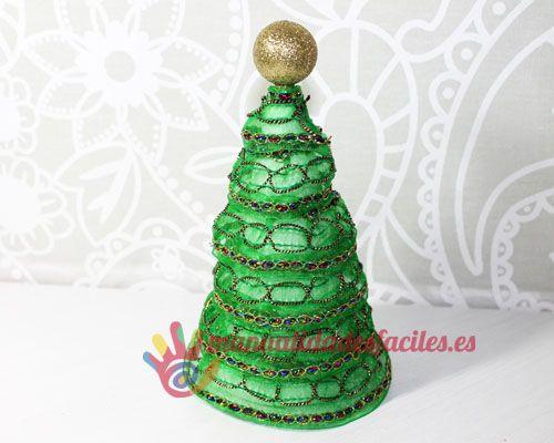 Como hacer un rbol de navidad con cintas proyectos mi - Cintas arbol navidad ...