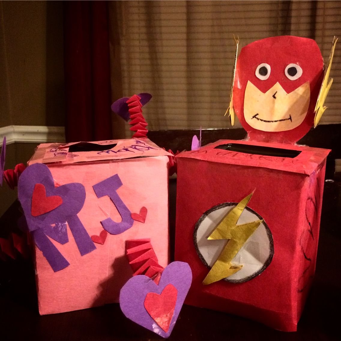 Beating Hearts And The Flash Fun Valentine Boxes