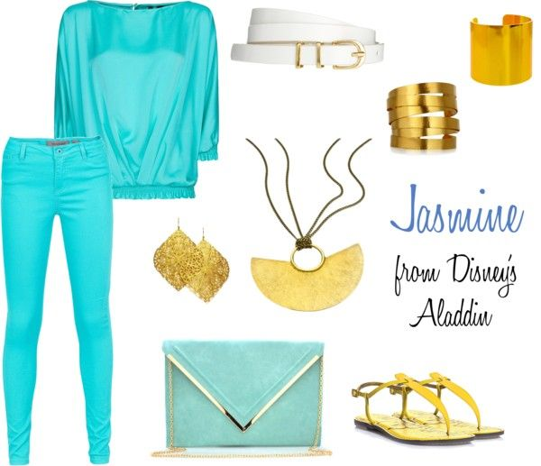 """Jasmine from Disney's Aladdin"" by haleyanderson23 on Polyvore"
