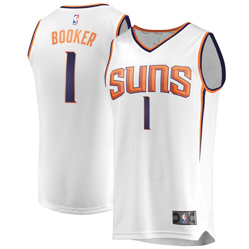 timeless design ea247 7ee11 Devin Booker Phoenix Suns Fanatics Branded Fast Break ...