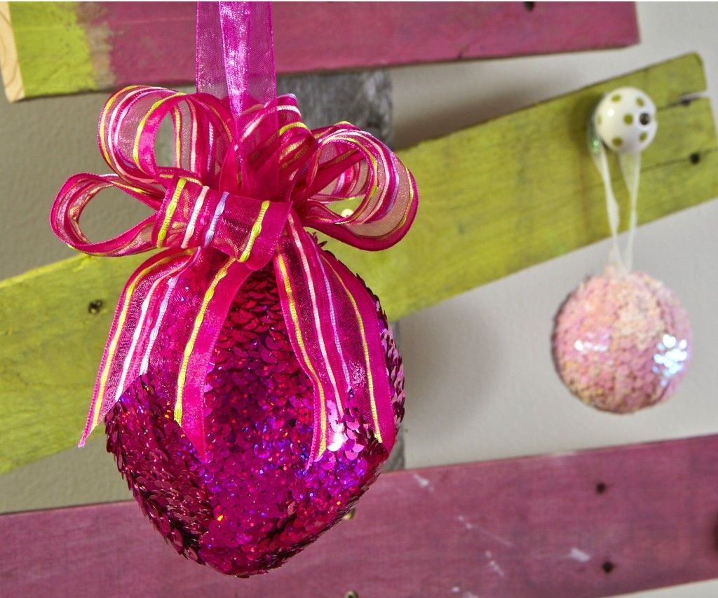 Sequin Trimmed Ornaments | -♥- Christmas Creations -♥- | Pinterest ...
