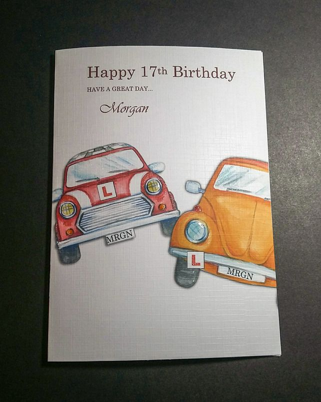 PERSONALISED 17TH BIRTHDAY CARD DRIVING LESSONS 350 – Birthday Cards Next Day Delivery