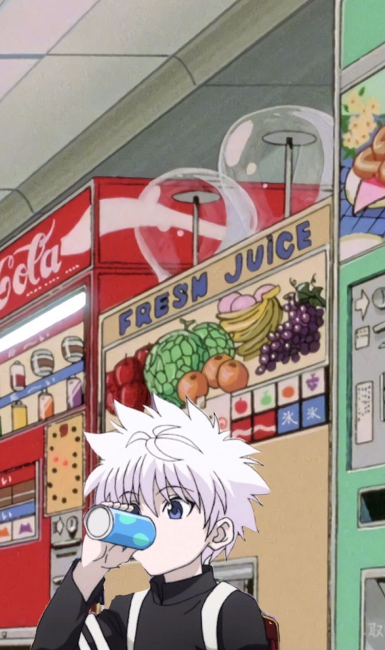 Killua Drinking Soda Hunter Anime Cute Anime Wallpaper Anime Wallpaper