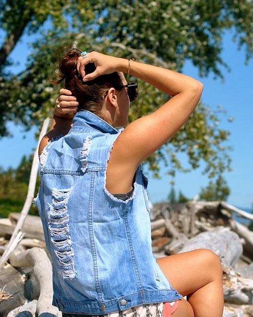 Need a go-to denim vest in my life!