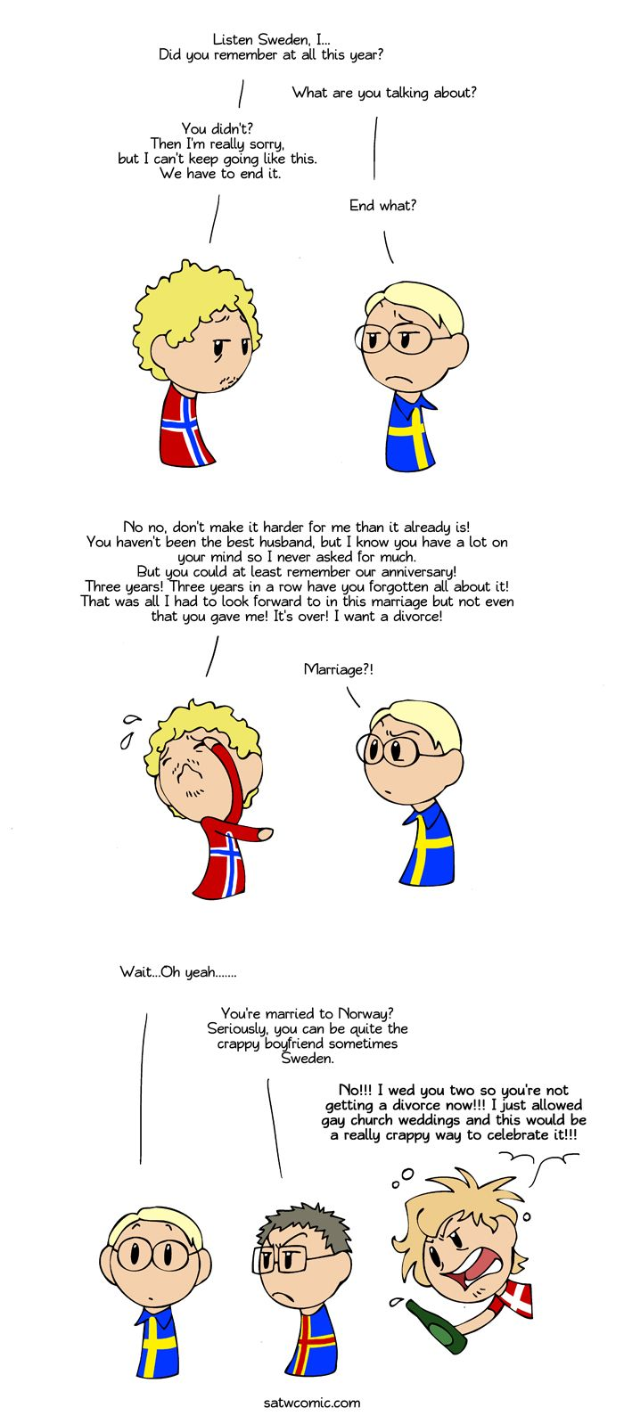 Three Years Scandinavia And The World Satw Comic Scandinavia Country Humor