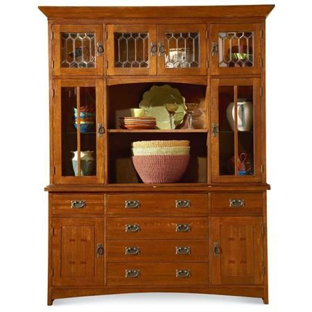 MasterCraft Collections Prairie Mission Oak Hutch Amp Buffet Mission Style Hutch Buffet