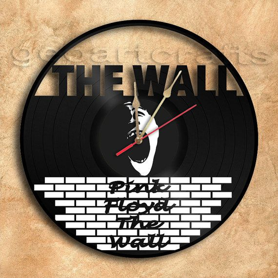 Wall Clock Pink Floyd The Wall Theme Vinyl Record Clock Upcycled