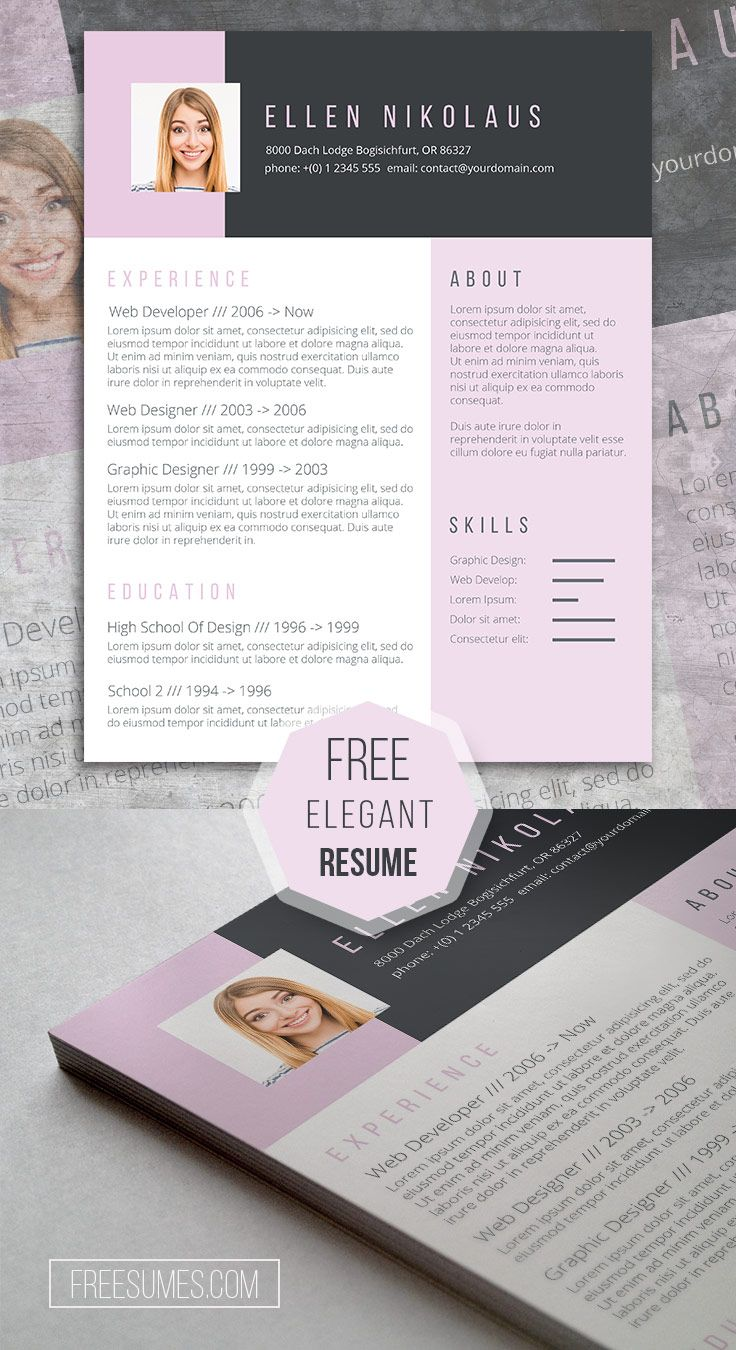 Say It With Style! A Free Creative Resume Template - Creative resume template free, Creative resume, Resume design creative, Resume design free, Creative resume templates, Resume design template - Black and pink contrast resume template that should help you get more eyes to your job application  Download it today for free to accelerate your job search