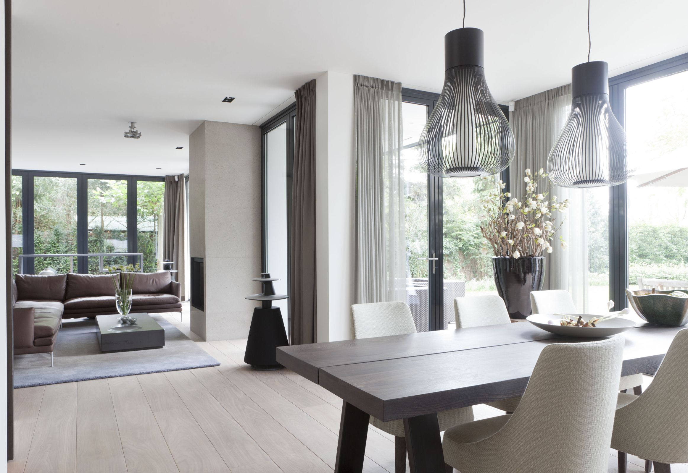Remy meijers interieurarchitectuur villa in 39 t gooivilla in 39 t gooi remy meijers - Eigentijdse eetkamer decoratie ...