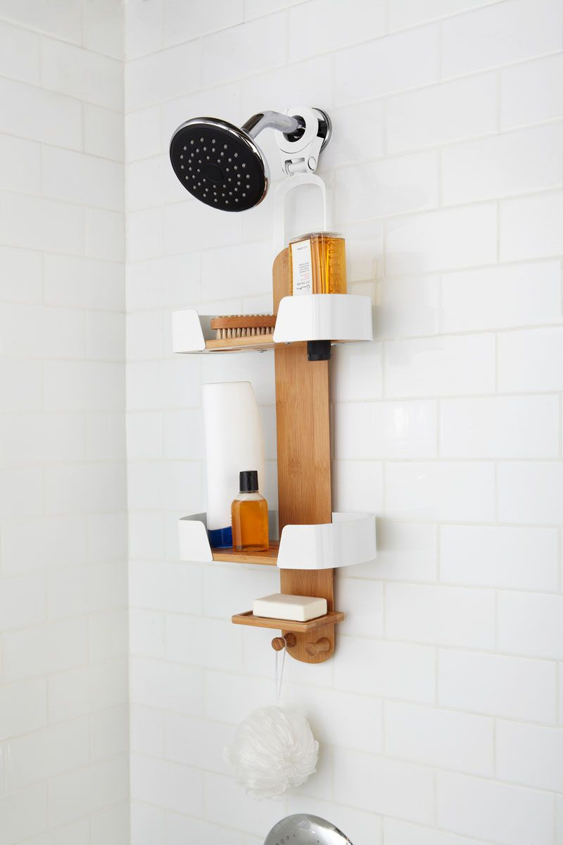 13 Ideas For Creating A More Manly Masculine Bathroom Shower Caddy Masculine Bathroom Shower Accessories