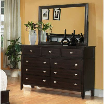Fairfax Home Collections Newton 9 Drawer Dresser with Mirror