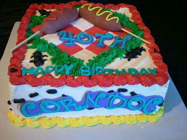 Picnic And Corn Dog Birthday Cake By Lakeisha Hill Keck With Sweet