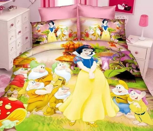 Disney Princess Ariel Sofia Rapunzel Single Duvet Cover Bedding Set 100/% cotton