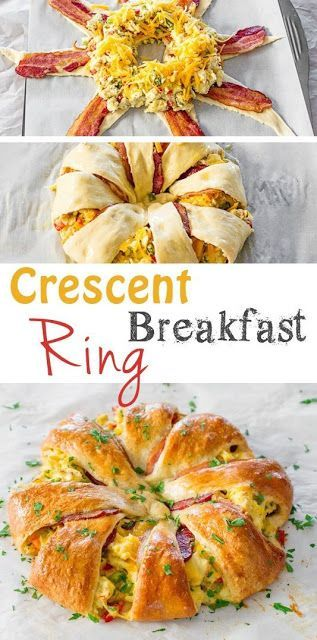 Crescent Bacon Breakfast Ring | Simply Delicious Food   - Chicken Recipes -
