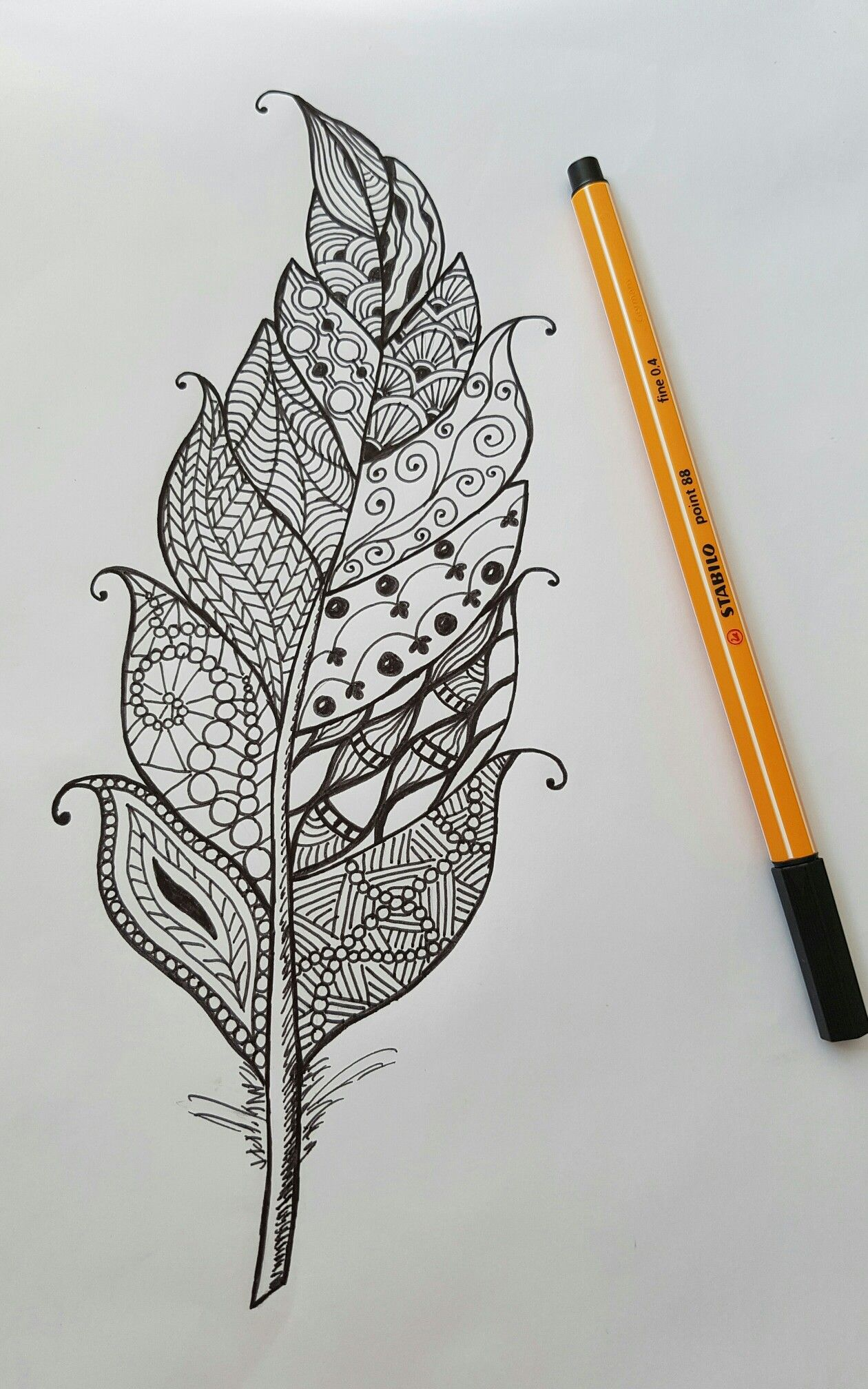 картинки для рисования черной гелевой ручкой простые того