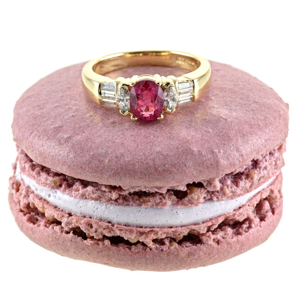 Handmade luxury Pink Sapphire and Diamond Engagement Ring from Holts ...