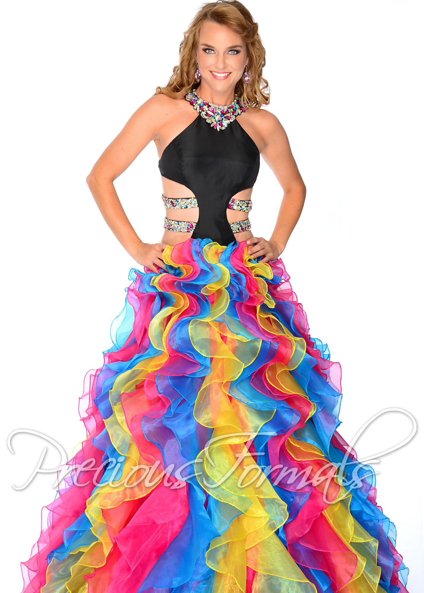 Rainbow neon prom dresses recommend to wear for everyday in 2019