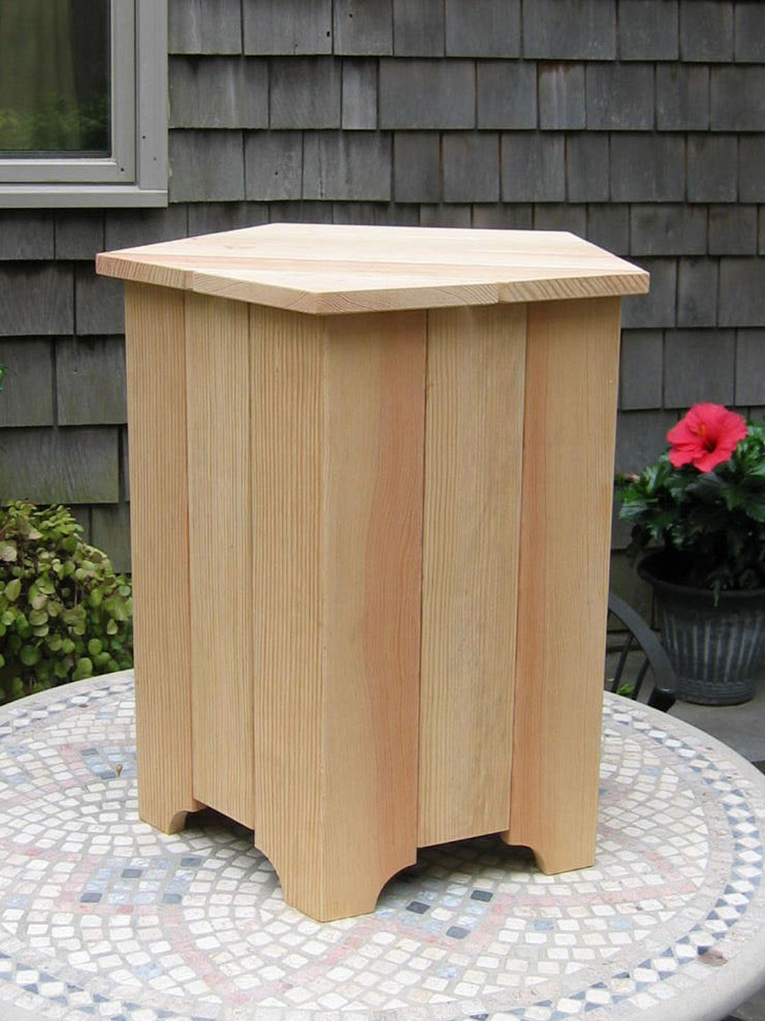 Wooden Propane Tank Box/Table
