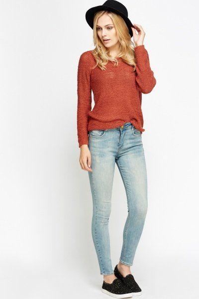 Washed Denim Skinny Jeans
