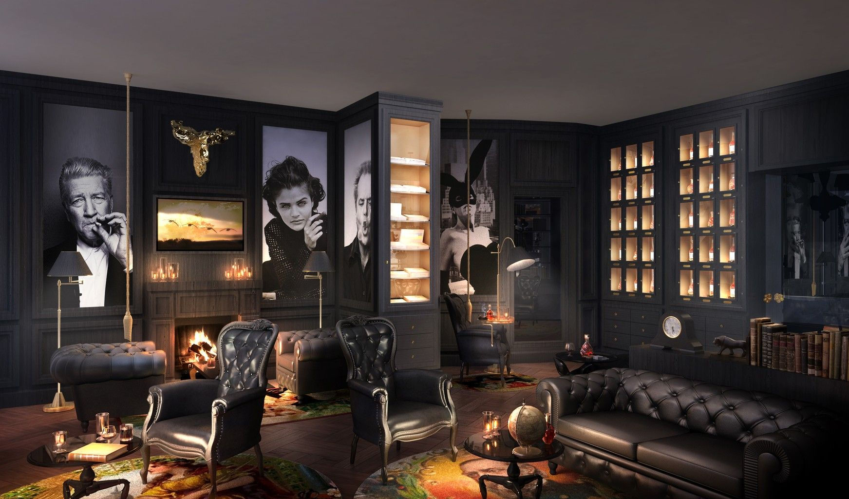 foto smokers lounge hotel m bel pinterest la maison hommes et maisons. Black Bedroom Furniture Sets. Home Design Ideas