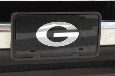 Georgia Bulldogs License Plate - Oval G #UGA #GeorgiaBulldogs ...
