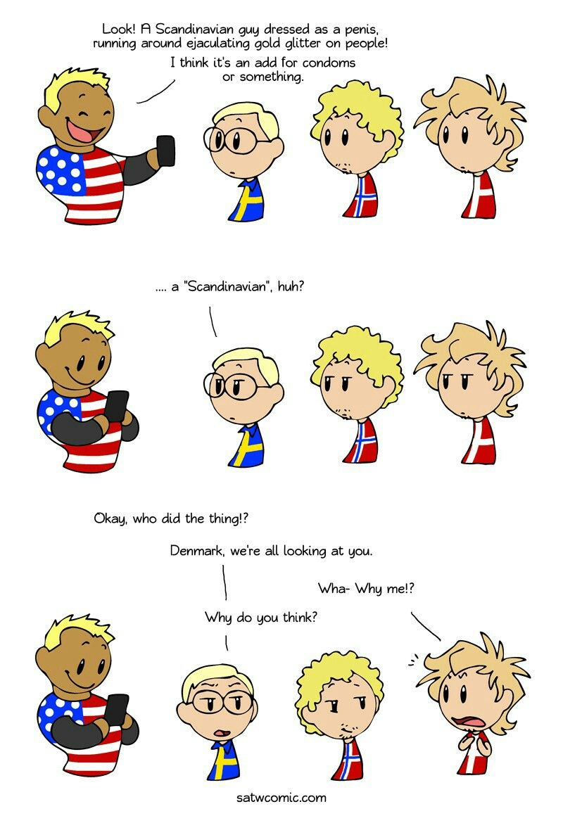 Scandinavia And The World It Was A Norwegian Look At Norway S Face Satw Comic Scandinavia Country Jokes