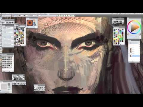 Android Jones painting Dream Girl in Painter 12 - Part 2