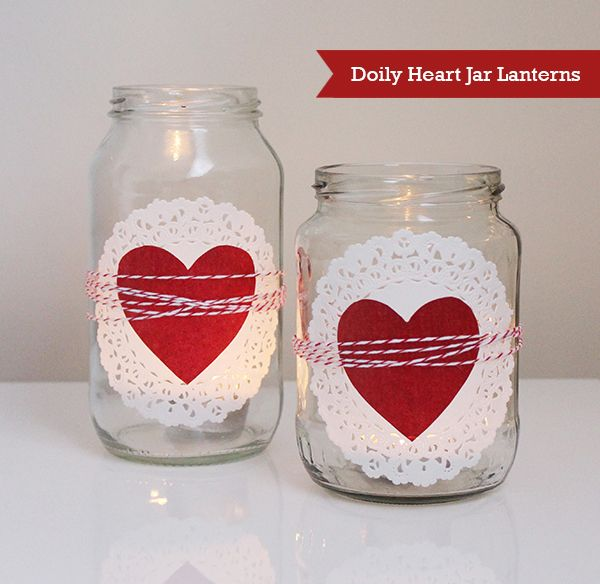 Photo of DIY Doily Heart Jar Lantern