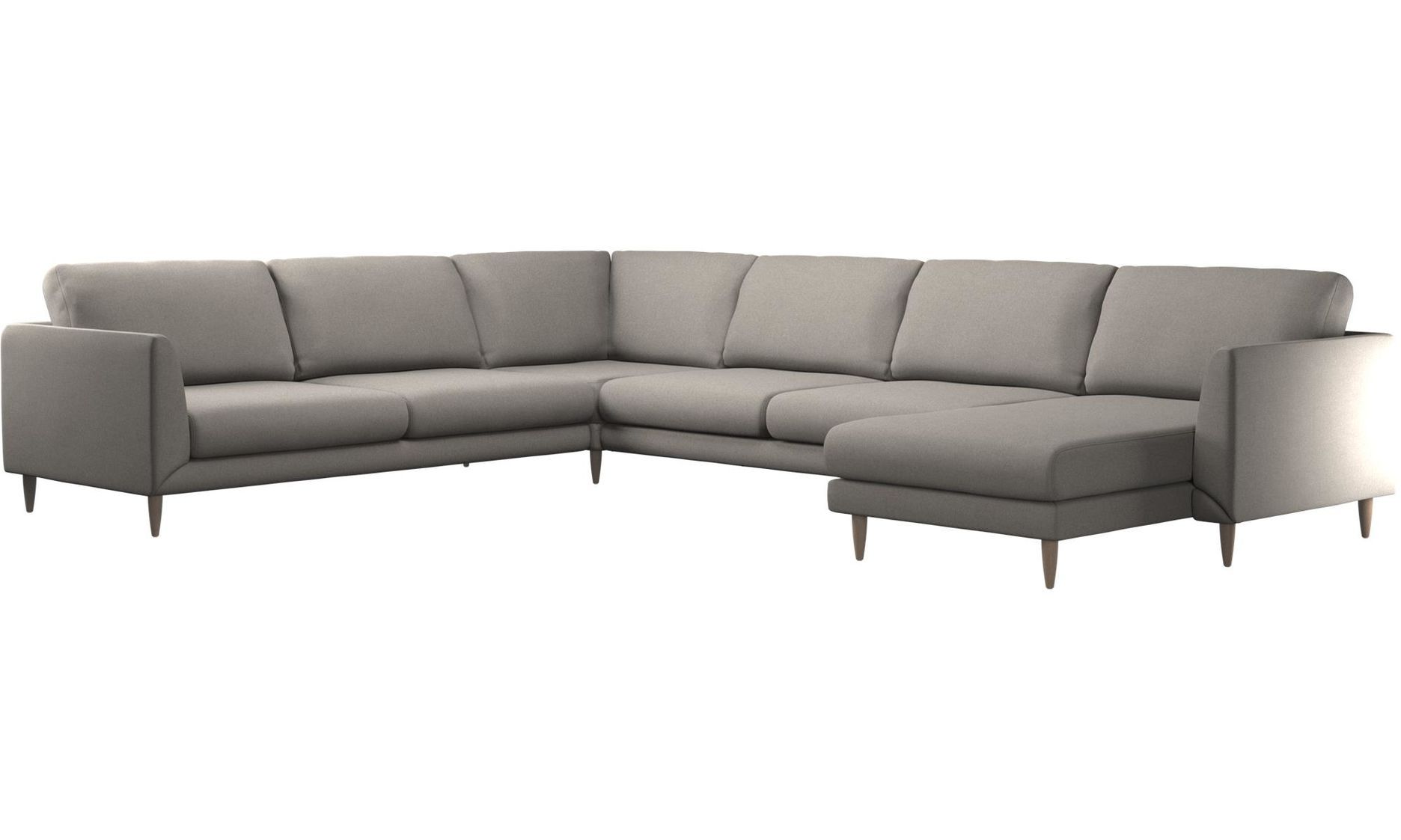 Chaise lounge sofas Fargo corner sofa with resting unit Gray