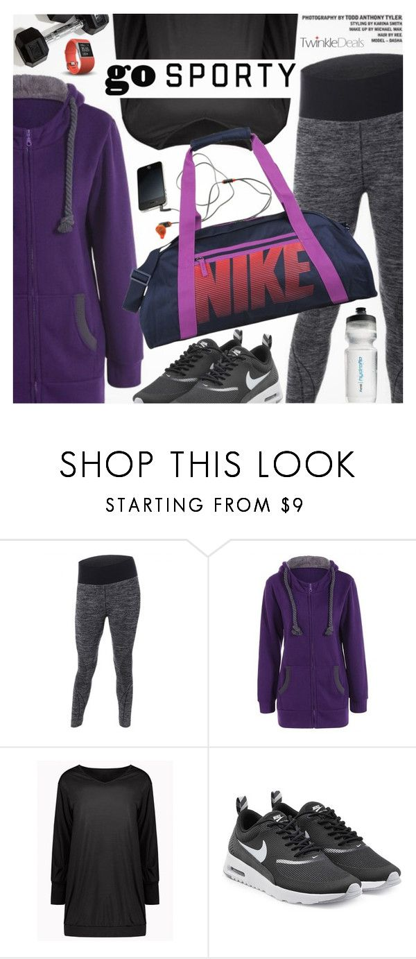 """Go Sporty"" by pokadoll ❤ liked on Polyvore featuring NIKE, Under Armour, polyvoreeditorial and polyvoreset"