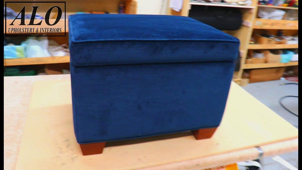 how to reupholster an ottoman with storage