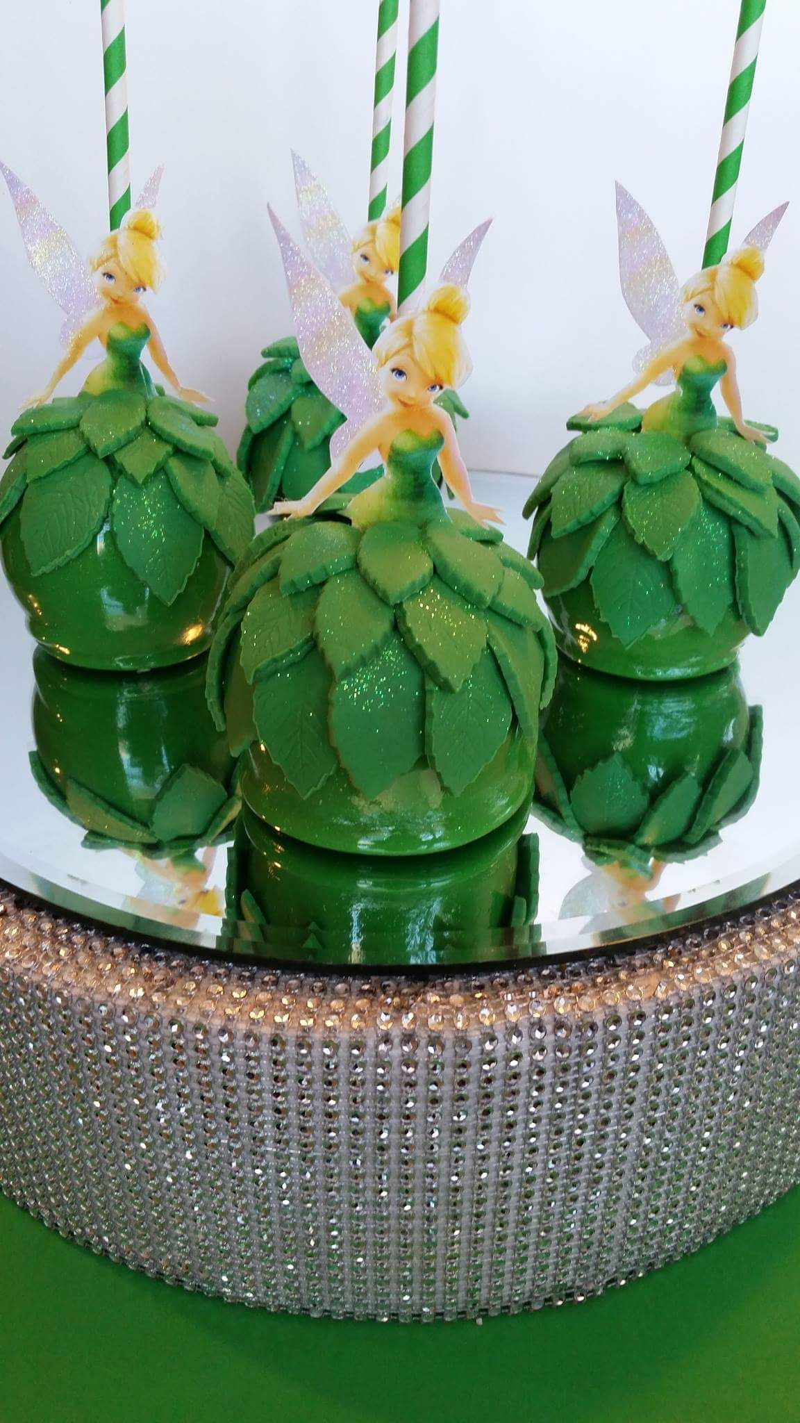 Tinkerbell Candy Apples Made By Pearland Sweet Tooth