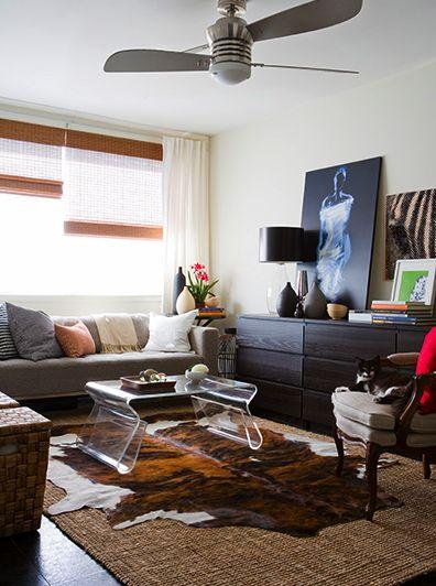 cowhide rug on jute rug living room pinterest jute
