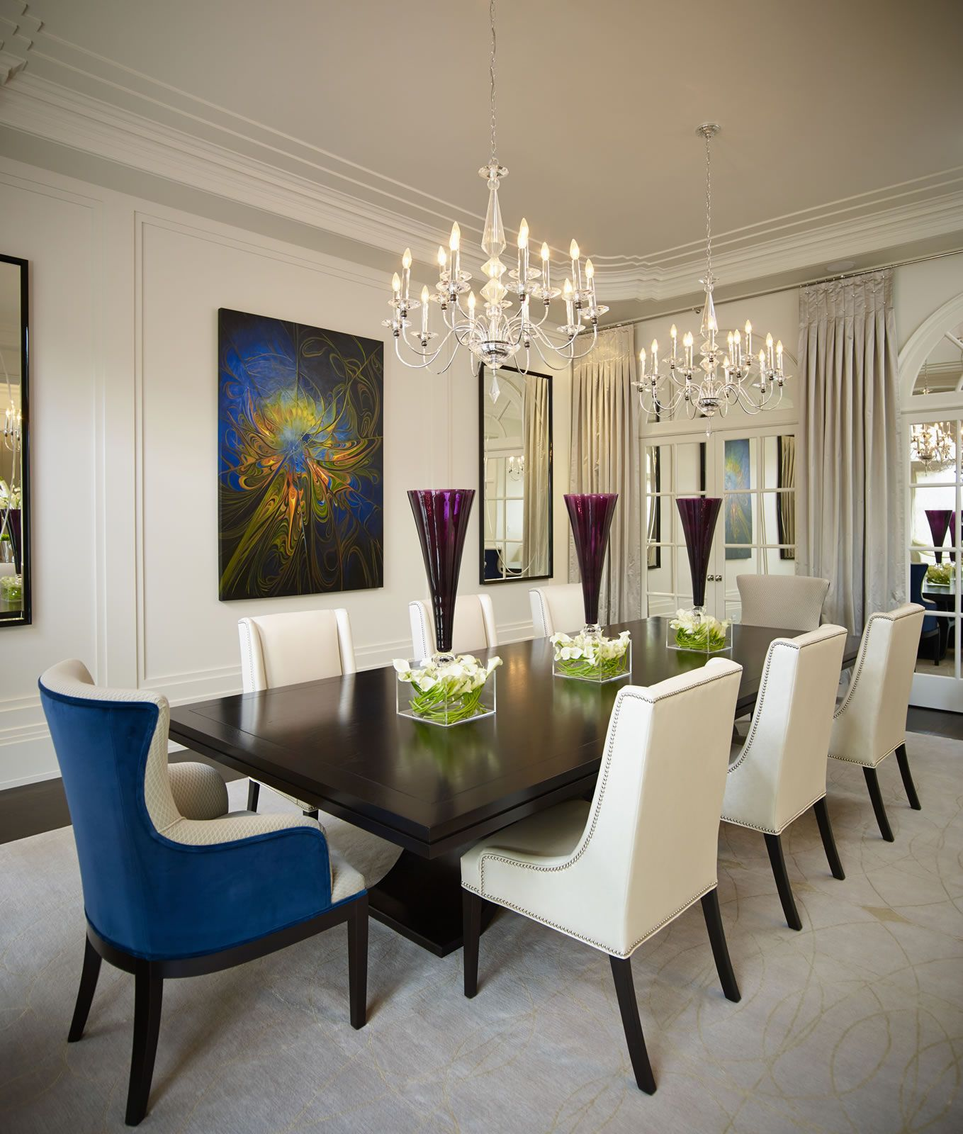 This Grand Residence Is Situated On The Picturesque Lakeshore Road Of Contemporary Interior Design Living Room Elegant Dining Room Contemporary Interior Design