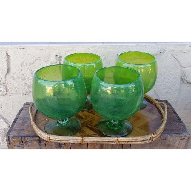 Vintage Margarita Glasses in gorgeous cauldron green, to be used as your poison beverages